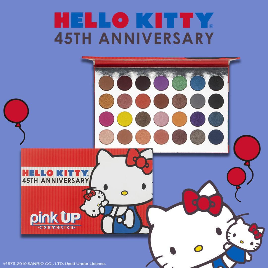 Hello Kitty Se Une Con Pink Up Para Una Línea De Sombras